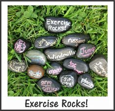 Exercise Rocks!  Get moving with this craftivity.