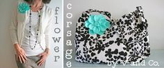 V and Co.: tutorial: flower corsage for celebrating mom