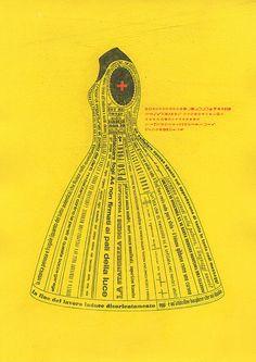 lady alphabet / in yellow