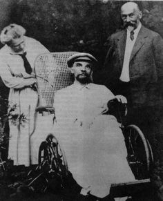Lenin looks creepy in the last known photo of him in 1923. He had three strokes by this point and was mute.