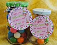 Teacher appreciation gift for end of year.  Cute and simple.