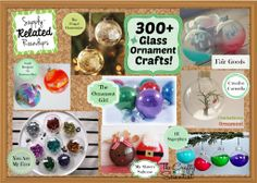 300+ Glass #Ornament Crafts!