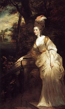 Georgiana Cavendish, Duchess of Devonshire (née Spencer; 7 June 1757 – 30 March 1806) was the first wife of the 5th Duke of Devonshire, and mother of the 6th Duke of Devonshire. Her father, the 1st Earl Spencer, was a great-grandson of the 1st Duke of Marlborough. Her niece was Lady Caroline Lamb. She is an ancestor (via her illegitimate daughter Eliza Courtney) of Sarah, Duchess of York. She is also related to Diana, Princess of Wales, who was her great-great-grandniece.