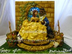 Coolest Beauty and the Beast Cake... This website is the Pinterest of birthday cake ideas