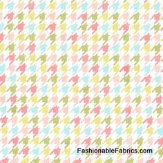 Fabric... Bella Butterfly Happy Houndstooth in Multi by Patty Sloniger