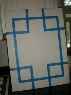 DIY canvas art. so easy! There are a lot of fun DIY projects from this site