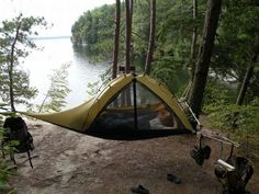Tent hammock! best camping ever... Such a good idea!!