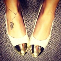 Chrome toe shoes | rosary tattoo