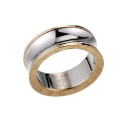 Ring Bvlgari Sterling Silver And Yellow Gold BVLGARI Inscribed Spool 4635 -$24
