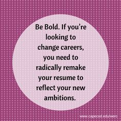 When was the last time you updated your resume? #CareerChangers