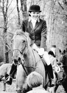 Jackie in the saddle.