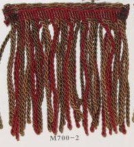 MELBOURNE SHUFFLE COLLECTION - Bullion Trim - Garnet/Olive/Brown by Hyena. $10.95. Melbourne Shuffle Bullion Fringe - 3 inch bullion fringe including 1 inch header. Offered in 3 colourways. Sold by the yard.