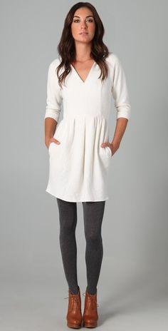 Winter White dress.