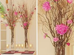 Tall wedding decor