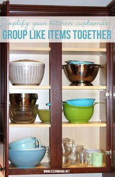 Don't have all day to organize your cupboards? Implement these tips from Clean Mama!