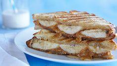Peanut Butter, Banana and Honey Panini