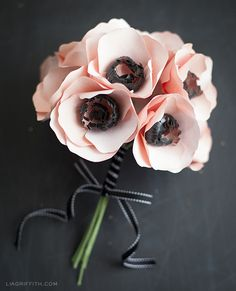 DIY Paper Flower: Anemone, very different that's why i like