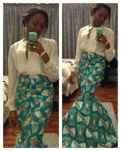 belle jupe longue et taille haute
