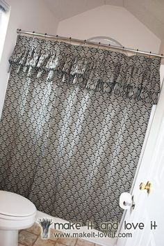 Ruffled Shower Curtain | Make It and Love It