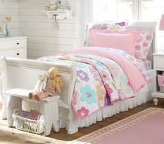 """Lizzie's """"toddler girl"""" room coming to our house 2013 :) Avery Quilted Bedding   Pottery Barn Kids - IDEA"""