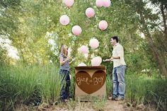Balloon Release Gender Reveal #genderreveal