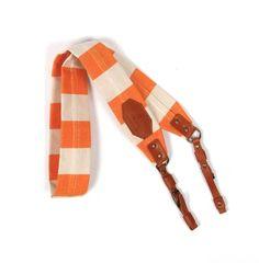 Orange Stripe Camera Strap.