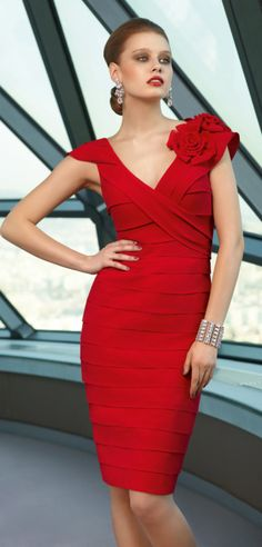 red fashion party dress