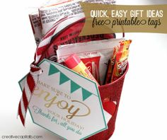 Capital B: Super Quick and #EasyGifts with Printable Tags