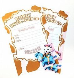 Sheriff Callie party invitations-new!
