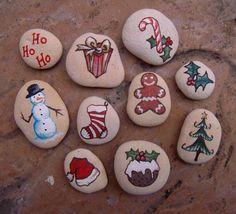 Christmas Painted Stones - katearthur.co.uk