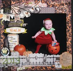 Halloween 2013 - Scrapbook.com- document those cute costumes in a layout using embellishments and border pieces