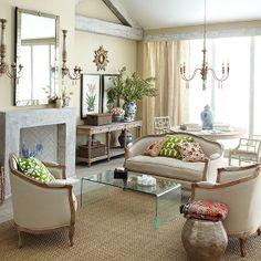 Wisteria - Furniture - Sofas & Loveseats -  Linen European Furniture - Natural Linen Settee - $1,399.00