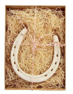 Party Favors - Handmade Porcelain Horseshoe (Classic)