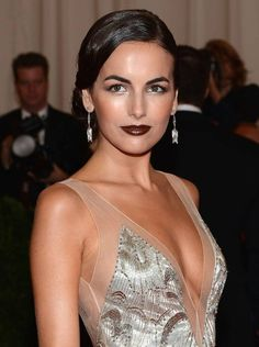 Camille Belle - classy elegant look with burgundy lips