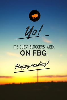Don't miss our 5th Guest Bloggers' Week this week! We hope you're as excited as we are!