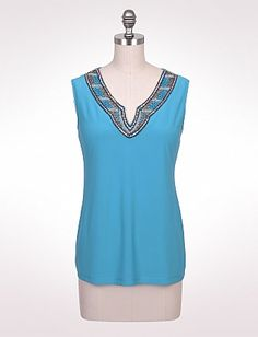 Misses   What's New   A Beautiful Day   Bead Neck Tank   dressbarn