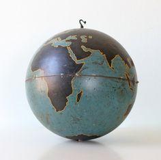 "Vintage Military Globe, Instructional 20"" diameter large globe"