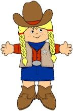 Cowboy Paper Doll Friends girl crafts, paper doll
