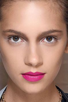 Make it feel like spring already, courtesy of your lipstick - we're loving this bright, bold pink