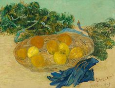 Vincent van Gogh, Still Life of Oranges and Lemons with Blue Gloves, 1889, National Gallery of Art, Washington, Collection of Mr. and Mrs. Paul Mellon