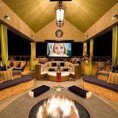 Outdoor media room!!! I LOVE IT