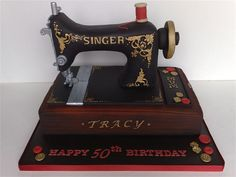This sewing machine is a cake from Small Things Iced - CELEBRATION CAKES!