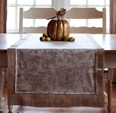 Thanksgiving Toile Table Runner