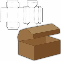 Silhouette: treasure chest box - for party favors?