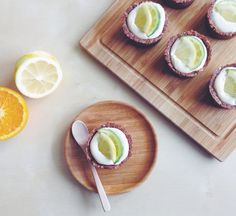 Citrus & Chocolate Tarts (Raw & Vegan)