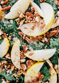 Kale and Asian Pear Salad via A House in the Hills