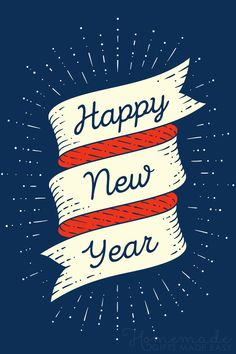 Happy new year images | Happy New Year. (Banner on a navy blue background)