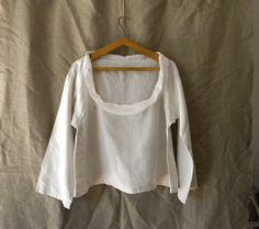 Vintage French linen blouse