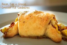 Bacon, Egg & Cheese Crescent Sandwiches