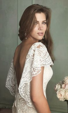 lace wedding gowns, allure wedding dress, lace wedding dresses, allure bridals, allur bridal, bridal spring, spring wedding dresses sleeves, allure bridal 2014, bell sleeve wedding dress